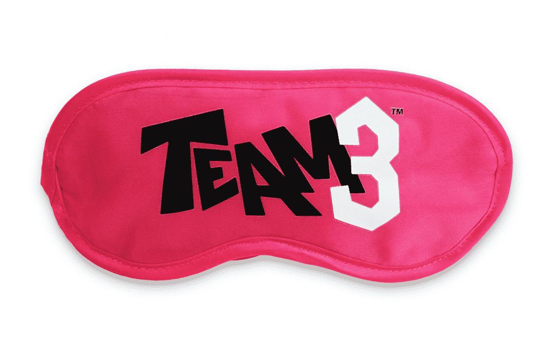 TEAM3 Schlafmaske pink